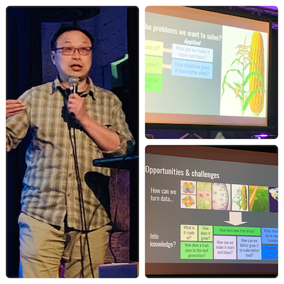 Shinhan talks about the future of data and agriculture at Biology On Tap in Lansing!